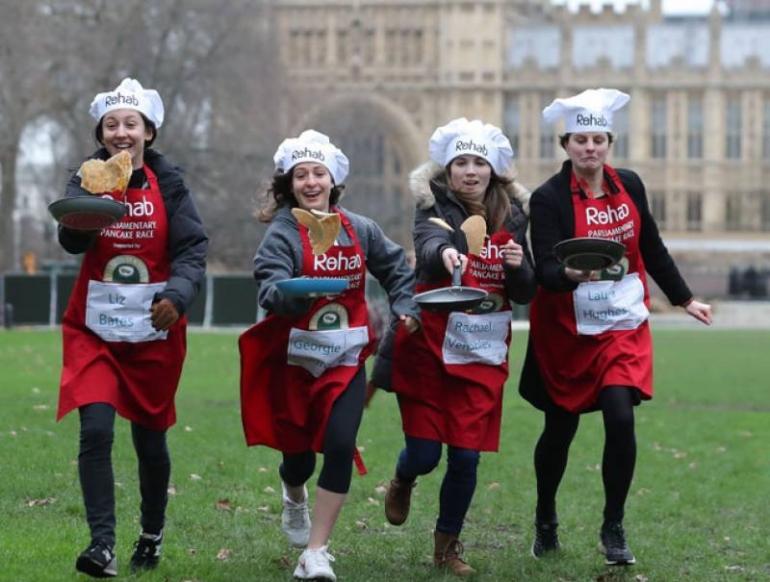 Pancake race, UK