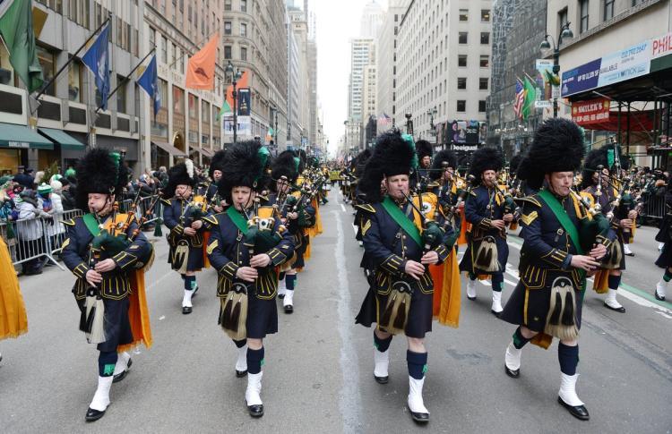 St Patrick's Day Parade, New York City, USA