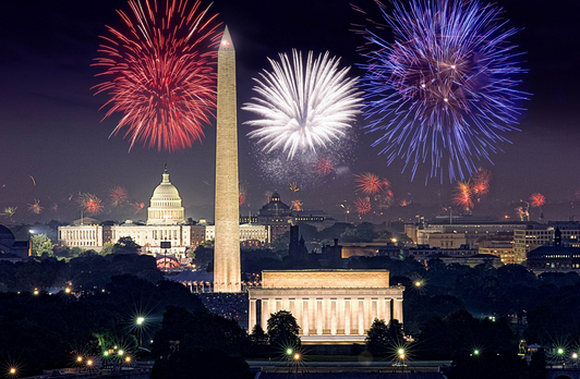 Capitol 4th of July fireworks, Washington DC, USA