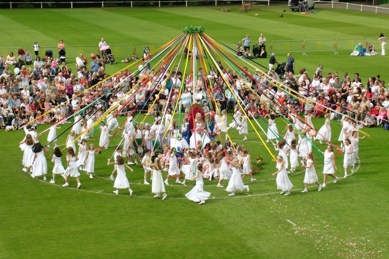 Maypole dance, Birmingham, UK