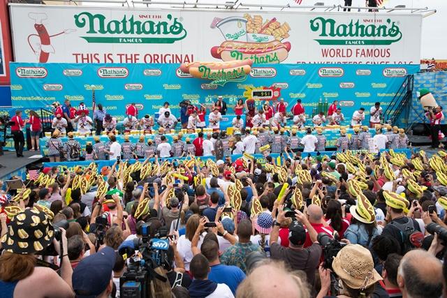 Nathan's Hot-Dog contest, Coney Island, New York