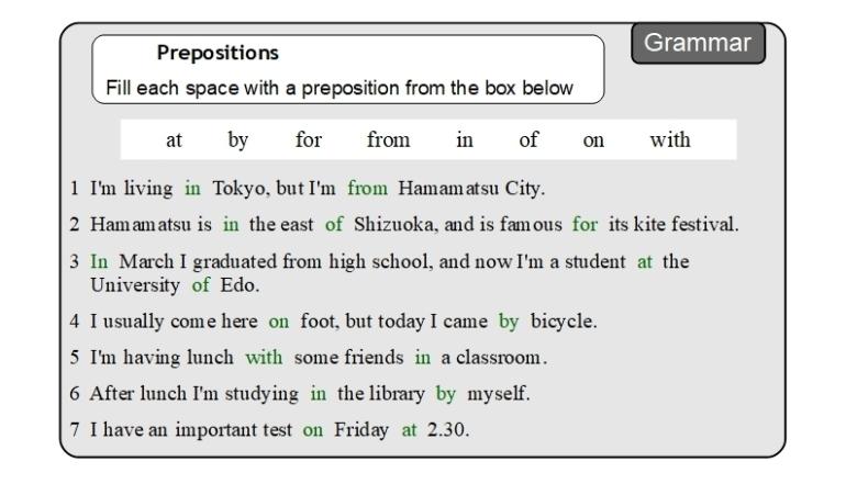 Unit 9 Grammar answer