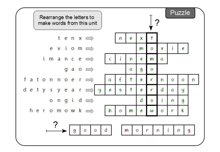 Unit 9 Puzzle answer