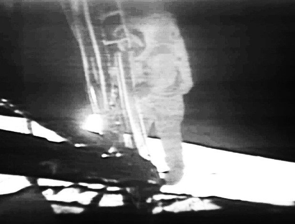 Neil Armstrong, first step on the moon, 1969