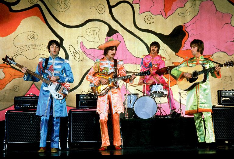The Beatles, performing Hello, Goodbye