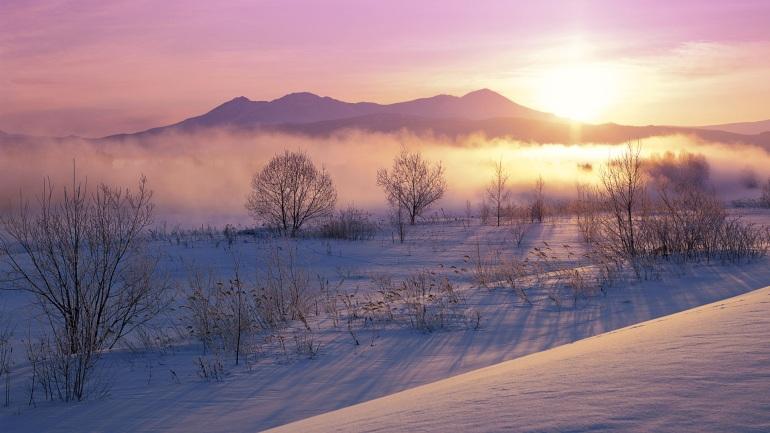 Hokkaido winter scene