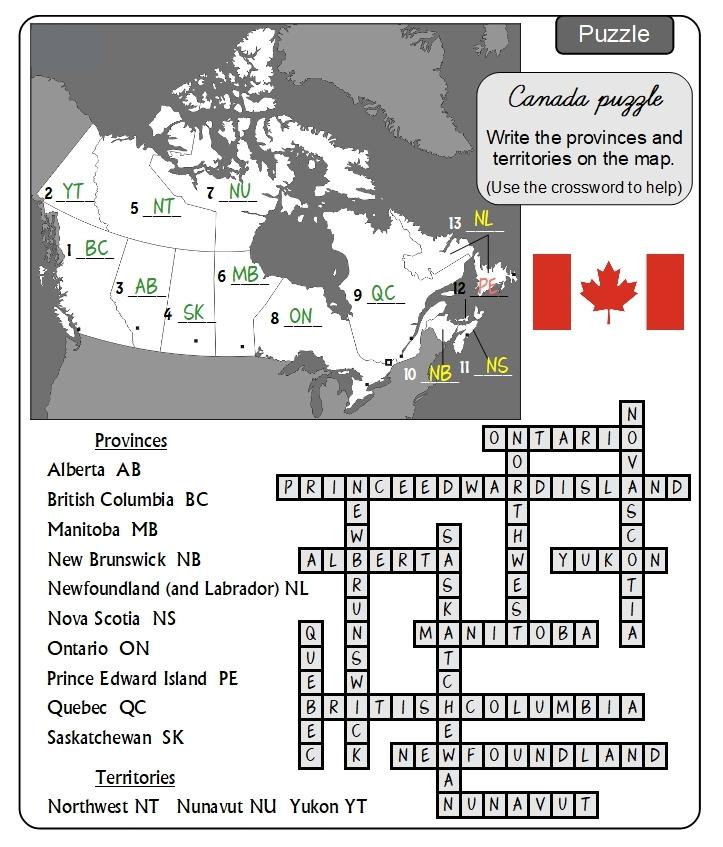 Unit 3 Puzzle answers
