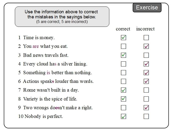 Unit 12 Exercise answer