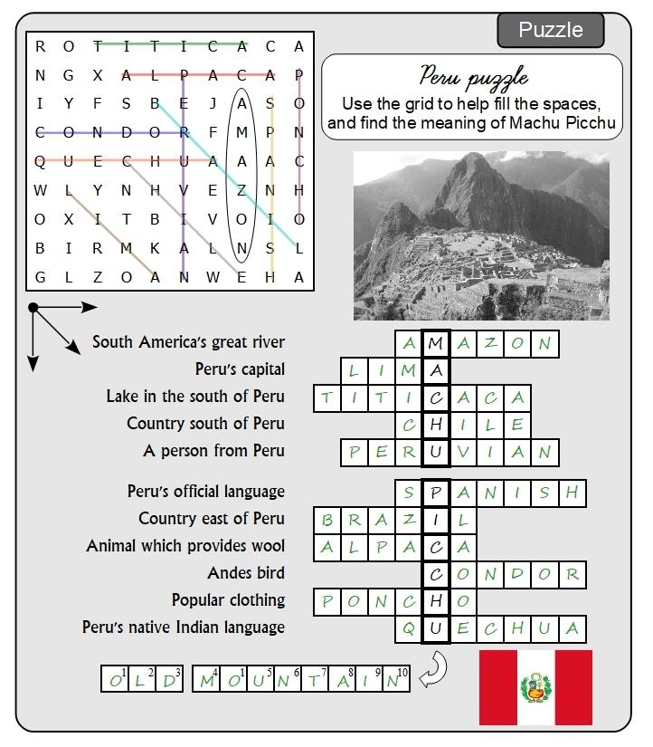 Unit 17 Puzzle answer