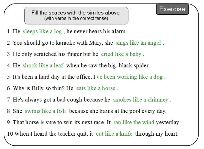 Unit 18 Exercise sample answer