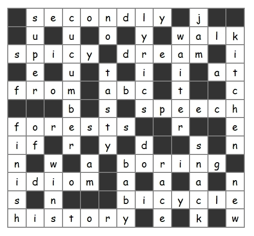 Unit 20 Crossword answer