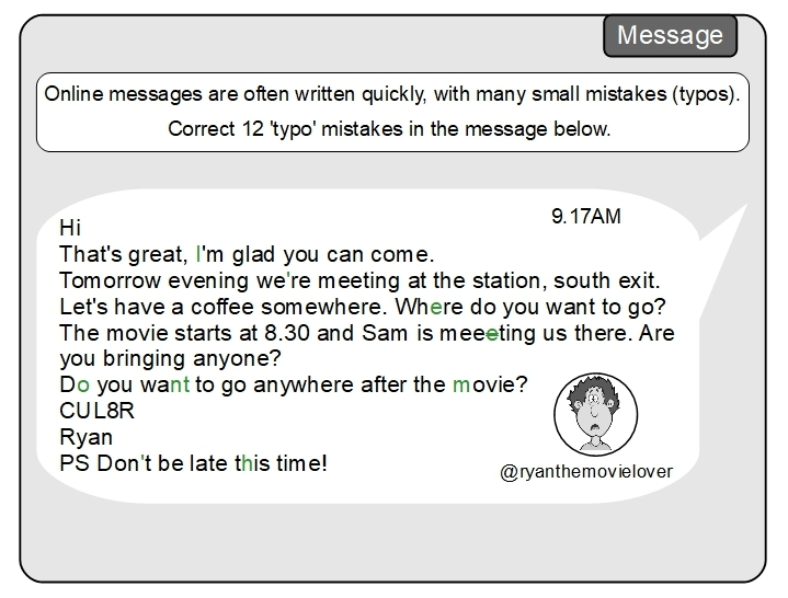 Unit 8 Message answer