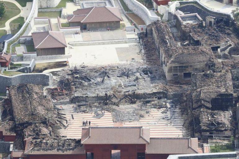 Shuri Castle ruins (after Nov 2019 fire)