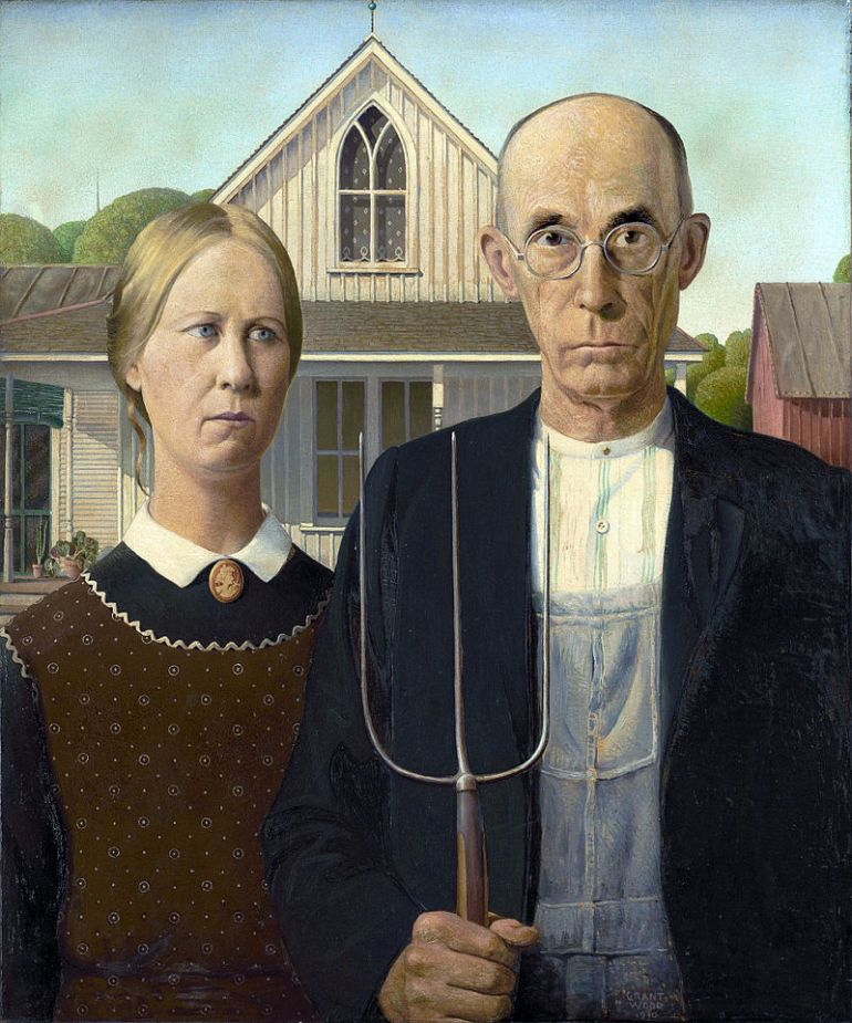 American Gothic, by Grant Wood, 1930