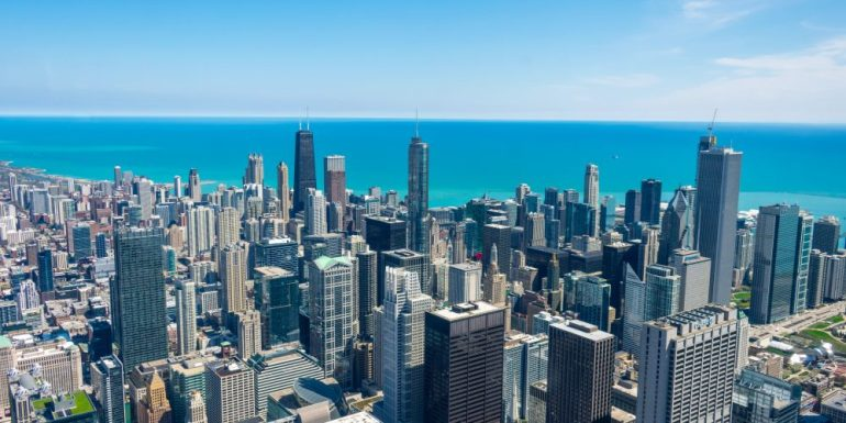 Lake Michigan, from the Skydeck, Willis Tower, Chicago