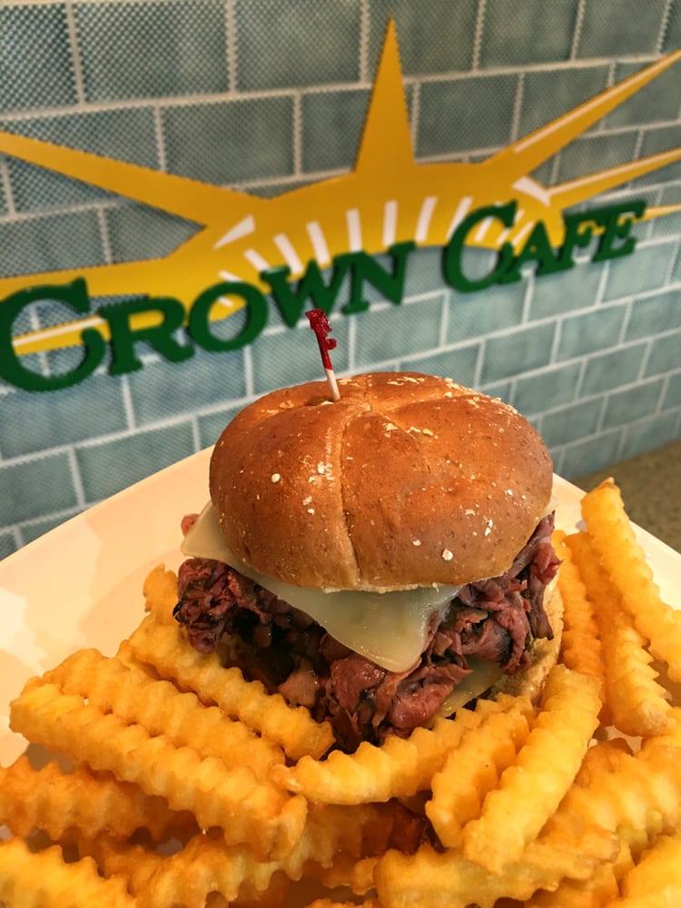 New York burger, Crown Cafe, Liberty Island