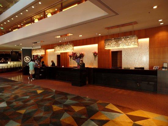 Sydney hotel, front desk